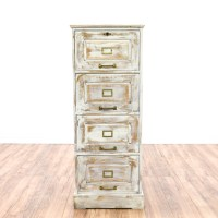 Distressed White Shabby Chic Filing Cabinet | Loveseat ...