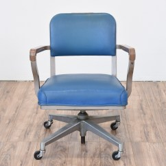 Steelcase Sofa Bed Slipcovers Sure Fit Vintage Quotsteelcase Quot Industrial Blue Office Chair