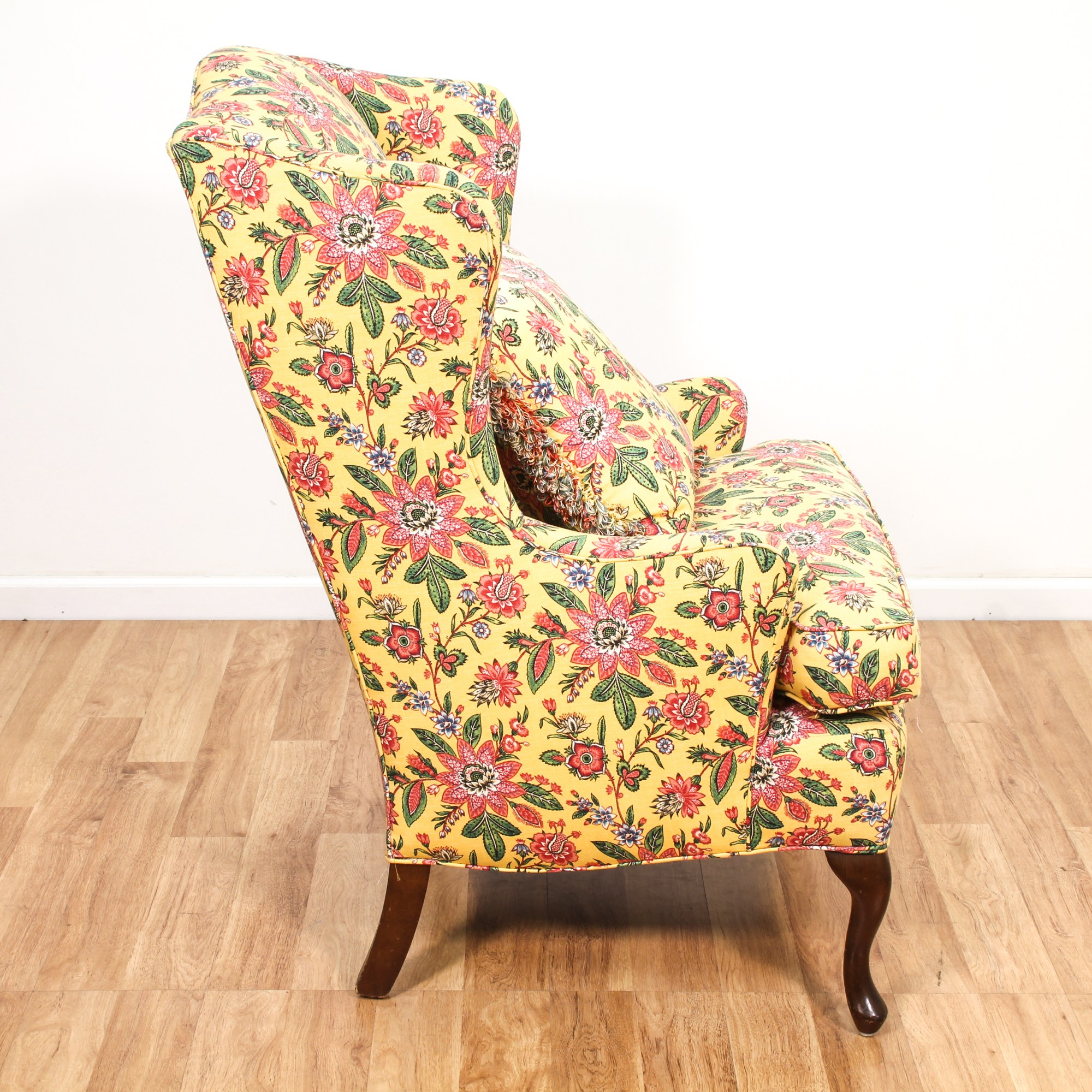 Floral Wingback Chair French Floral Wingback Armchair 2 Loveseat Vintage