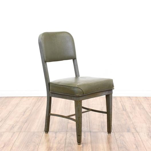Rustic Industrial Gray Metal Office Chair  Loveseat