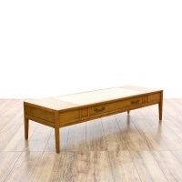"""Drexel"" Mid Century Coffee Table w/ Stone Top | Loveseat ..."