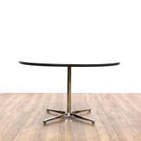 Mid Century Modern Chrome Base Dining Table | Loveseat ...