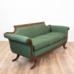 Green Floral Sofa Drawing Room Designs 2018 Duncan Phyfe Inspired Loveseat Vintage