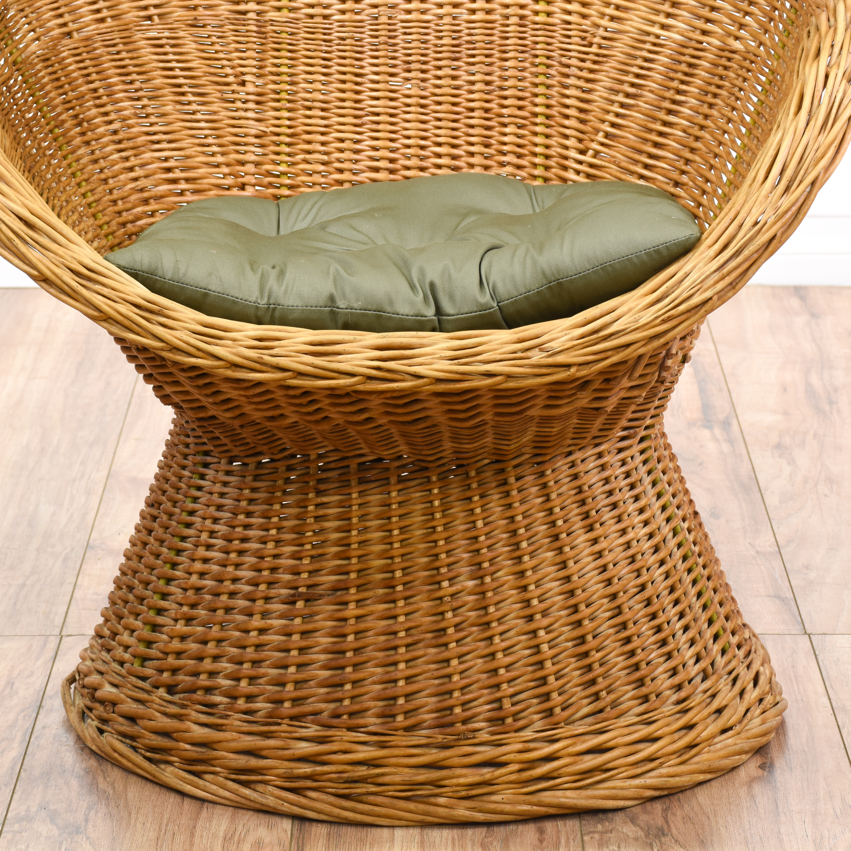 rattan egg chair office covers near me curved woven loveseat vintage furniture