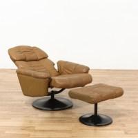 Modern Brown Recliner Swivel Chair & Ottoman | Loveseat ...