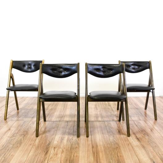 coronet folding chairs chair rental richmond va set of 4 wonderfold black loveseat vintage
