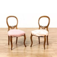 Pair Of Balloon Back Side Chairs | Loveseat Vintage ...
