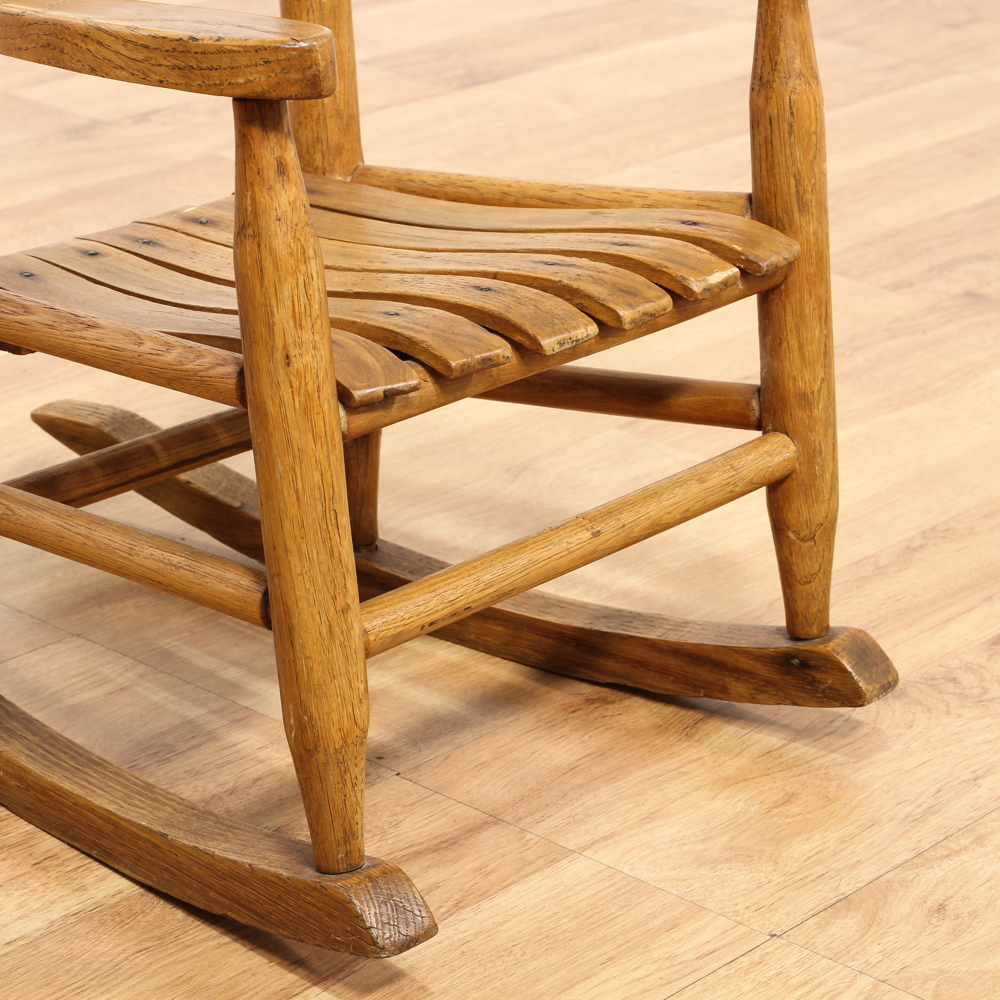 small rocking chairs chair cover ideas for party farmhouse chic oak kids loveseat