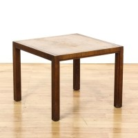 Mid Century Modern Square Walnut End Table | Loveseat ...