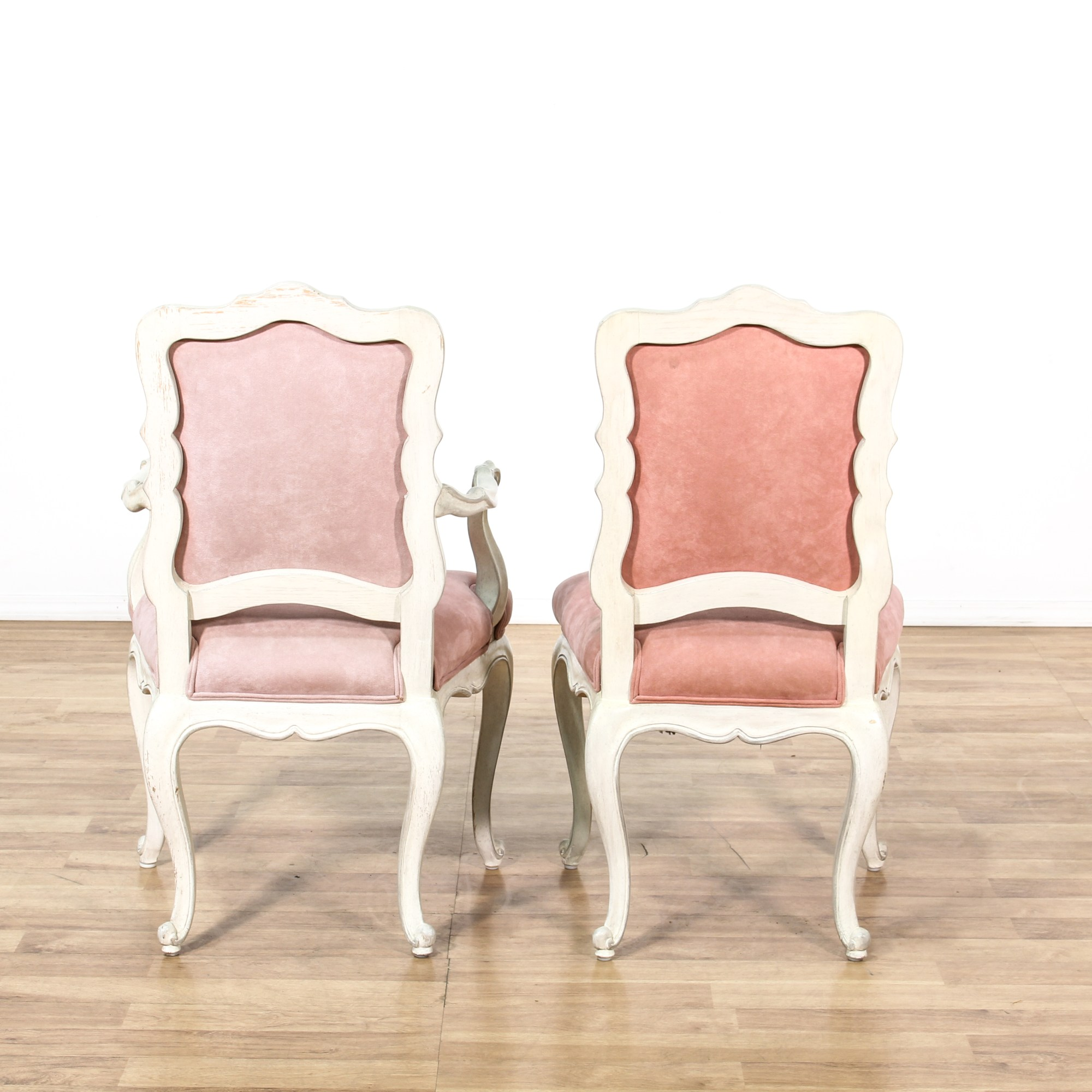 Pink Upholstered Chair Set Of 6 Provincial Pink Upholstered Dining Chairs