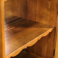 Maple Curio Cabinet w/ Bottom Cabinet | Loveseat Vintage ...