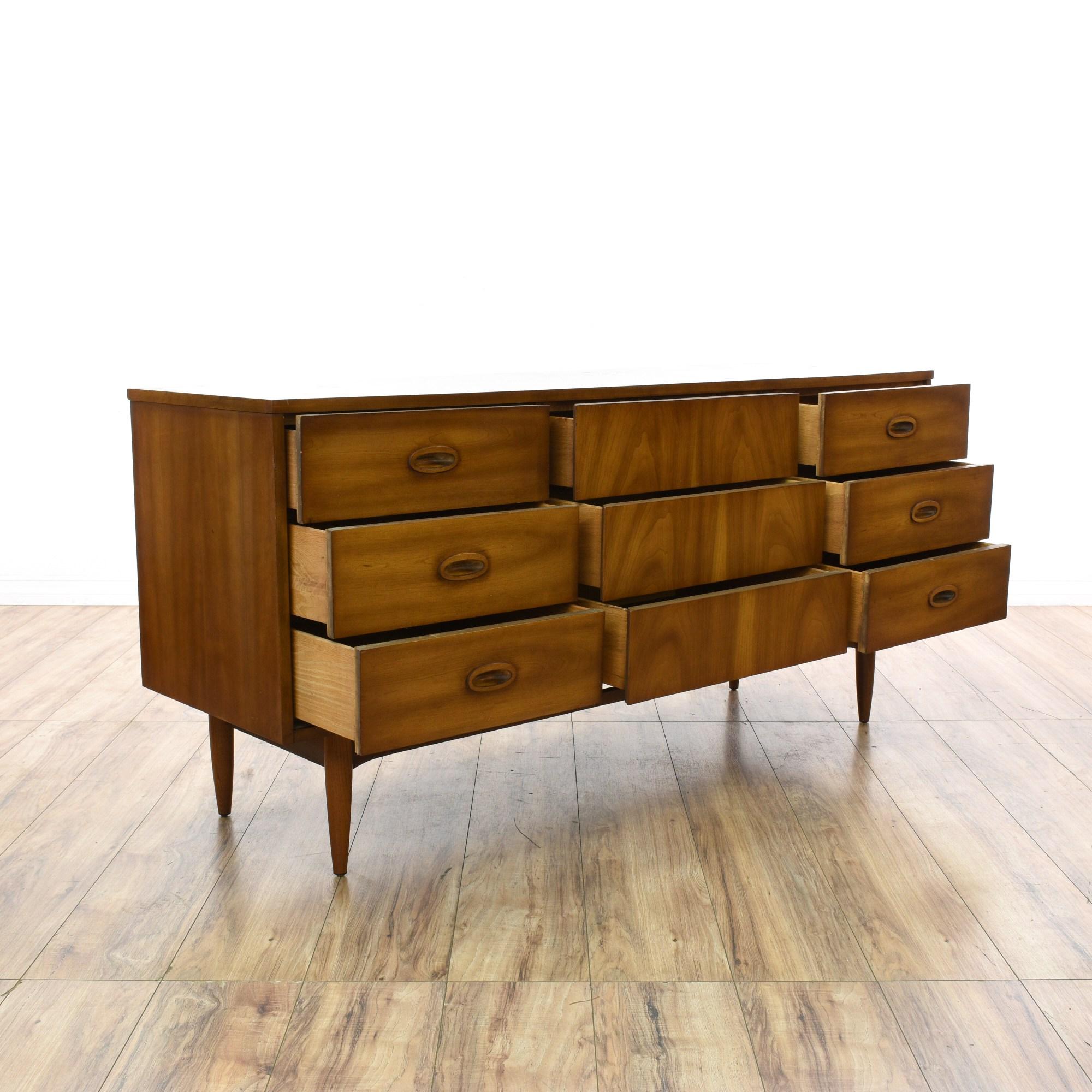 """""""Dixie"""" Mid Century Modern Walnut Dresser"""