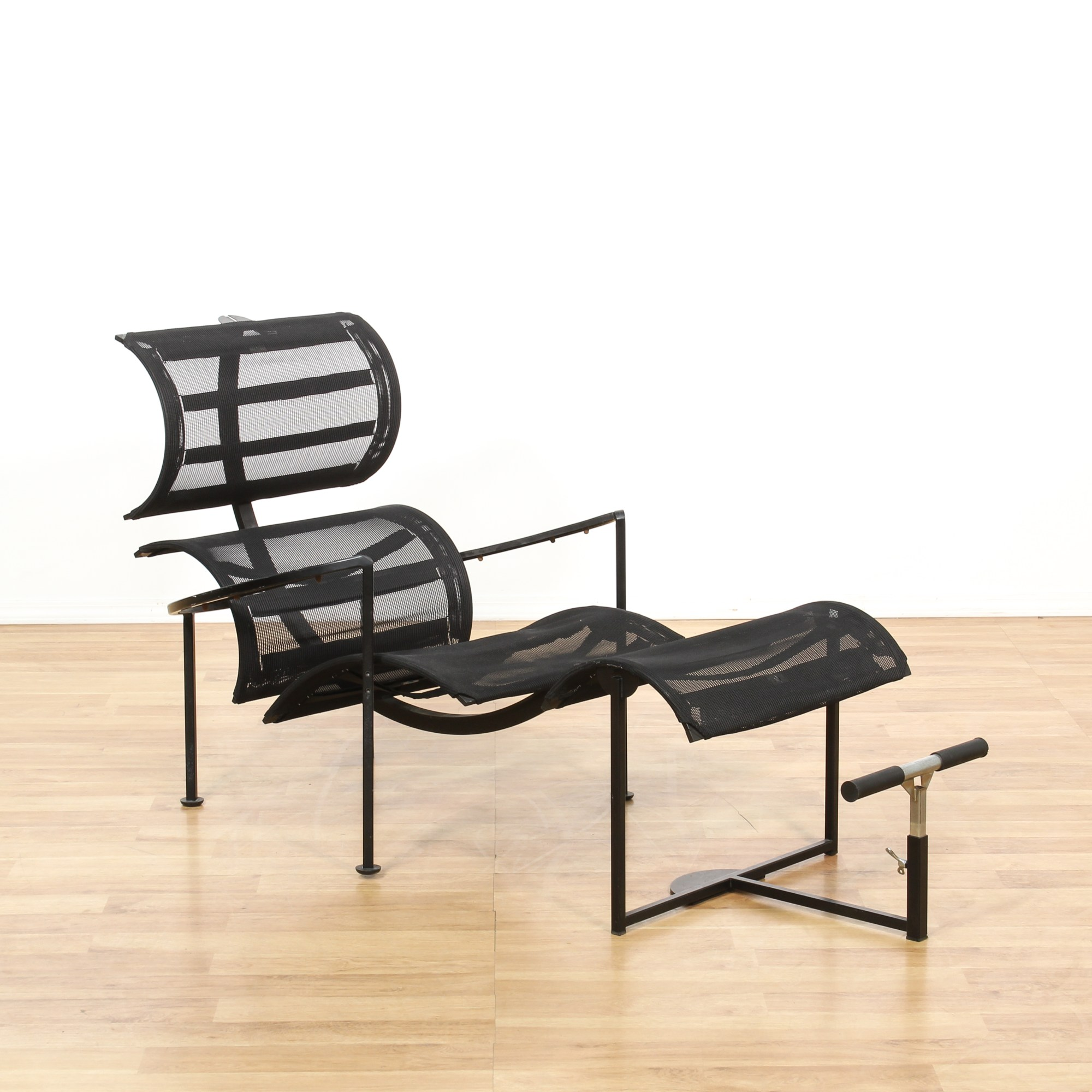 Mesh Lounge Chair Contemporary Black Mesh Lounge Chair And Ottoman Loveseat