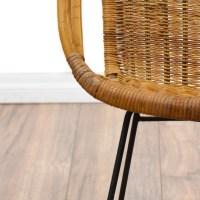 Woven Wicker Mid Century Modern Basket Chair | Loveseat ...