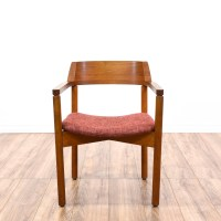 Mid Century Modern Teak Accent Chair | Loveseat Vintage ...