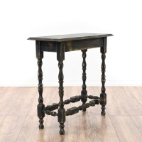 Black Shabby Chic Console Sofa Table | Loveseat Vintage ...