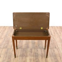 Mid Century Modern Maple Piano Storage Bench