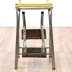 Old Fashioned Kitchen Chair Step Stool Stand Alone Island Retro Industrial Yellow Loveseat Vintage