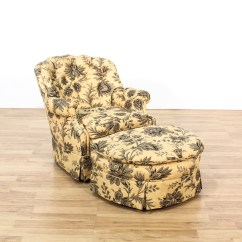 Chairs And Ottomans Upholstered Where Can I Buy A Bean Bag Chair Floral Cream Club Ottoman Loveseat