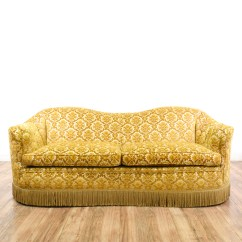 Hollywood Regency Curved Sofa Simply Shabby Chic Covers Brocade Chenille Loveseat Vintage