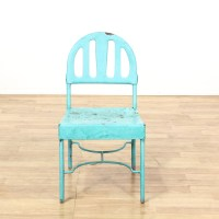 Light Blue Distressed Shabby Chic Metal Chair | Loveseat ...