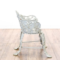 White Wrought Iron Kitchen Chairs Chair Covers Homesense Floral Patio And Table Loveseat