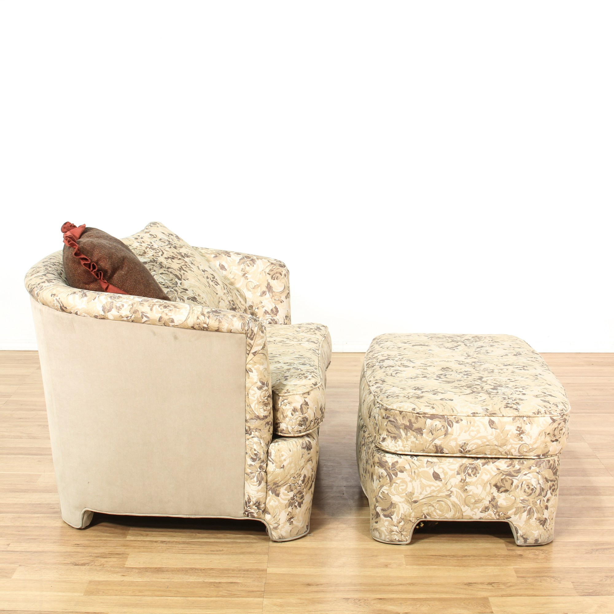 Round Ottoman Upholstered Small