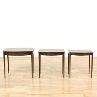 Set Of 3 1960's Mahogany Nesting End Tables | Loveseat ...