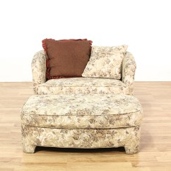 Floral Upholstered Chair Make Christmas Covers Round Back And Ottoman Loveseat