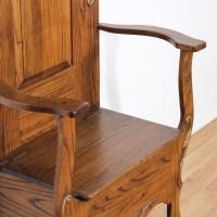 Antique Oak Mirror Hall Tree w/ Storage Chair | Loveseat ...