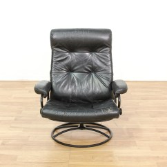 Black Leather Swivel Lounge Chair Covers Rental Cheap Near Me Contemporary Loveseat
