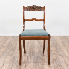 Duncan Phyfe Chairs How To Install Chair Rail Tile Rose Back W Blue Seat Loveseat
