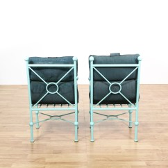 Turquoise Patio Chairs Pub Table With And Bench 4 Painted Upholstered Loveseat
