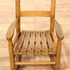 Small Rocking Chairs Banquet Chair Covers Singapore Farmhouse Chic Oak Kids Loveseat