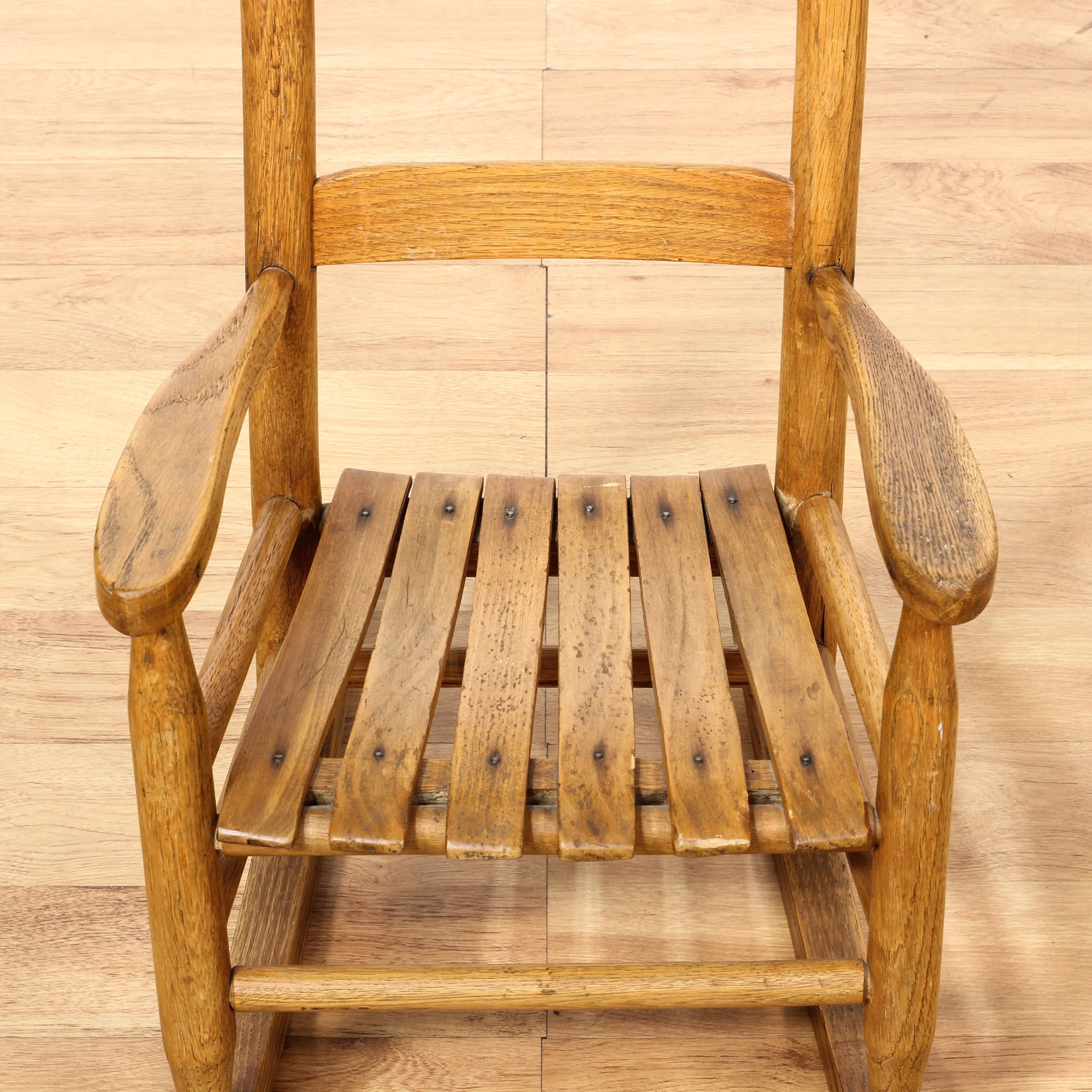 Small Rocking Chair Small Farmhouse Chic Oak Kids Rocking Chair Loveseat