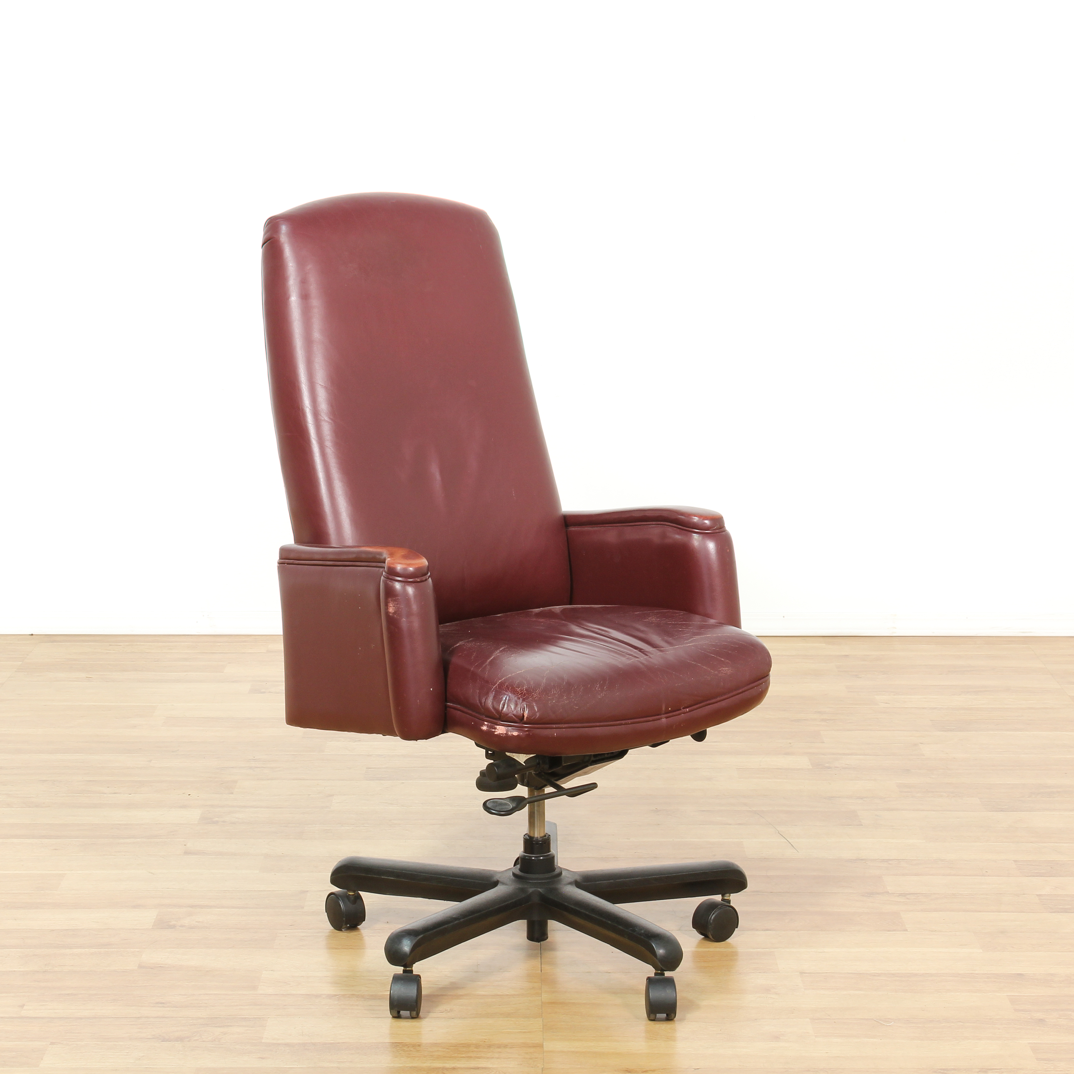 maroon office chairs toys r us bean bag red vinyl executive chair loveseat vintage