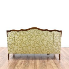 Green Floral Sofa Leather Conditioner Yellow Tufted Loveseat