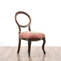 Pair Of Mismatched Needlepoint Balloon Chairs | Loveseat ...