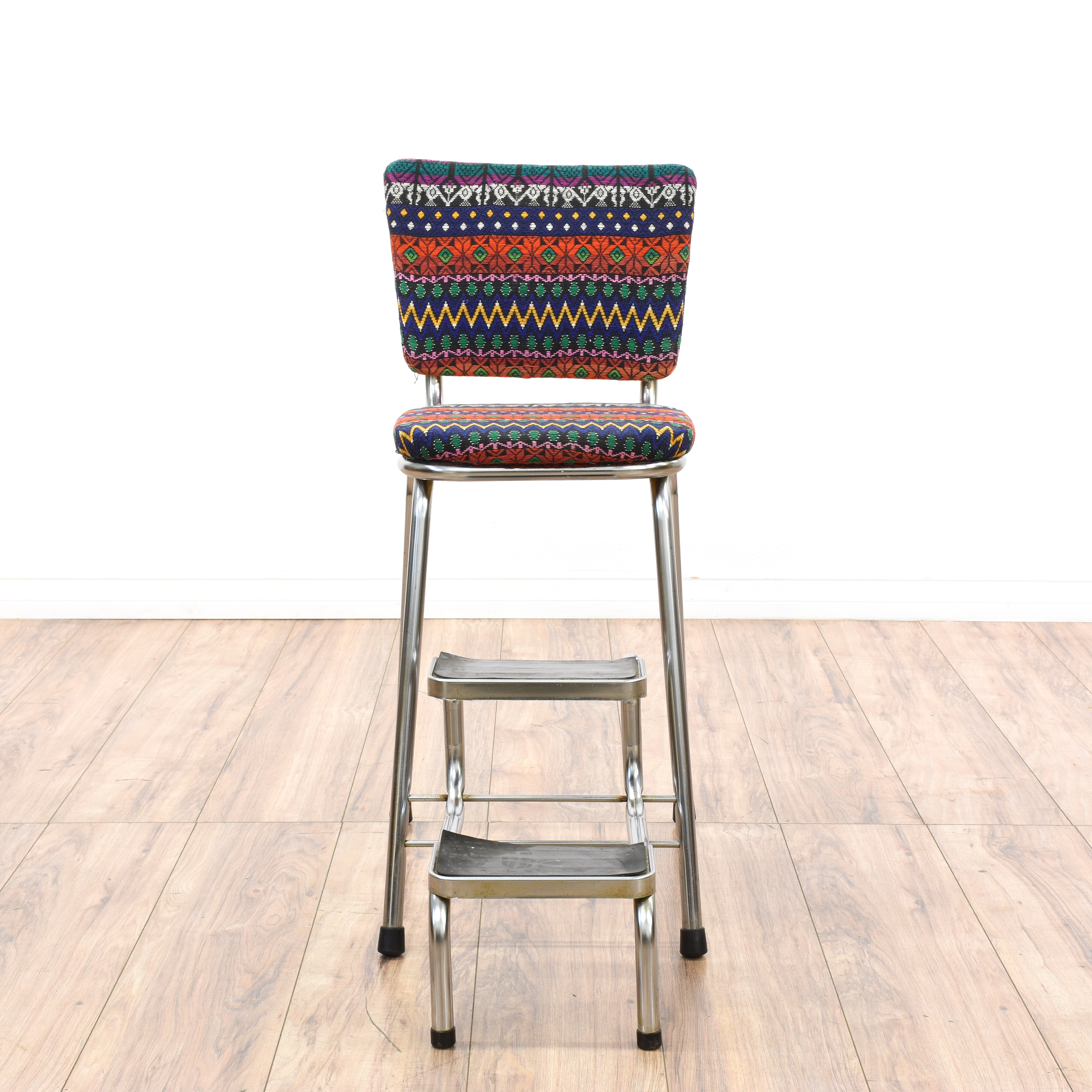 old fashioned kitchen chair step stool making a table boho tribal pattern loveseat vintage