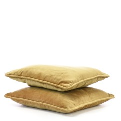 Gold Sofa Throw Pillows Foam Set Designs Pair Of Velvet Accent Loveseat Vintage