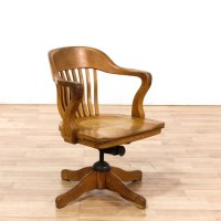 Oak Swivel Office Chair | Loveseat Vintage Furniture Los ...