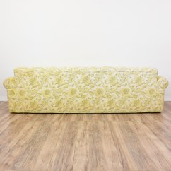 Green Floral Sofa Willow Sofaworks Long Beige And Paisley Print Loveseat