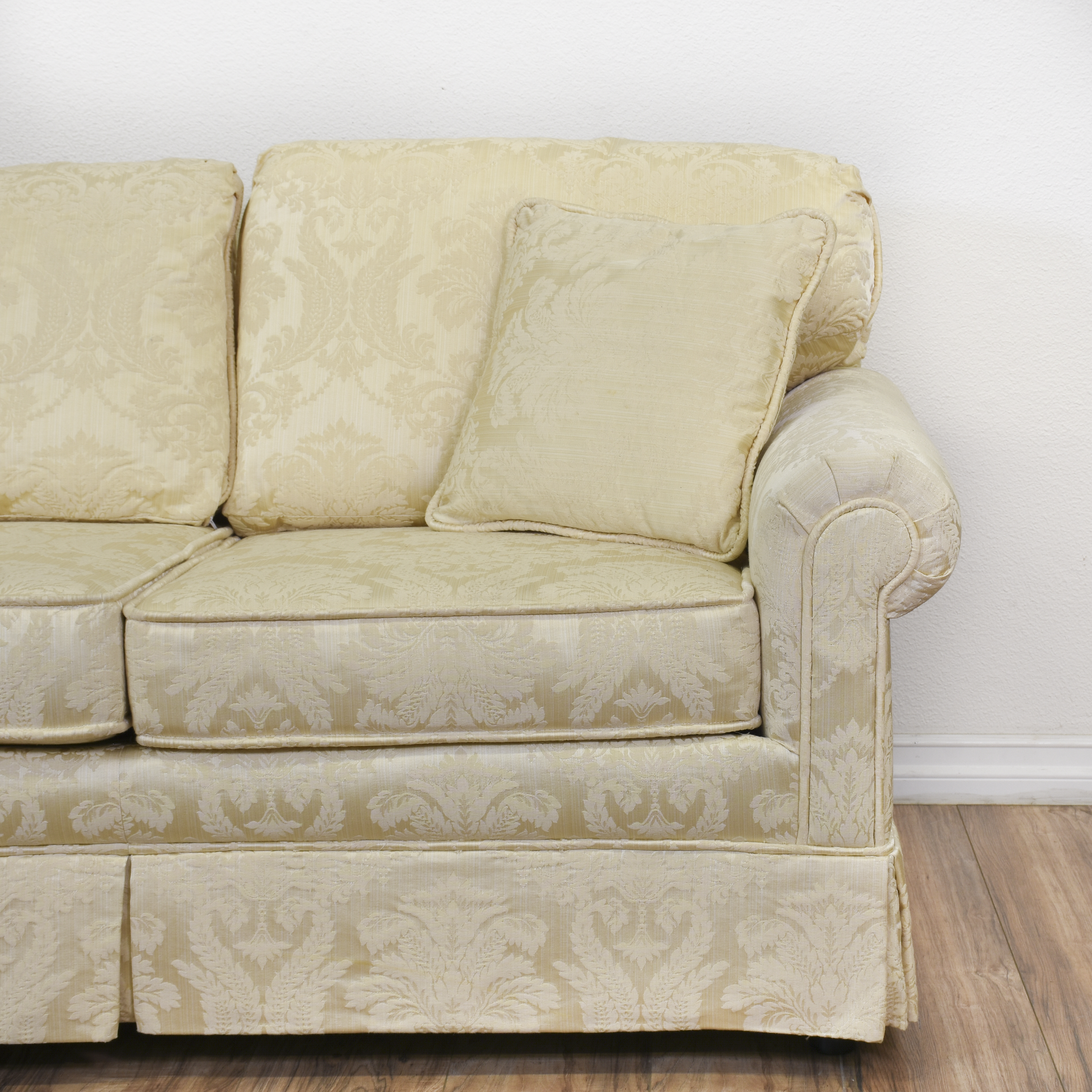 damask sofa bed beige leather sofas sale quotkrause 39s quot cream floral loveseat vintage