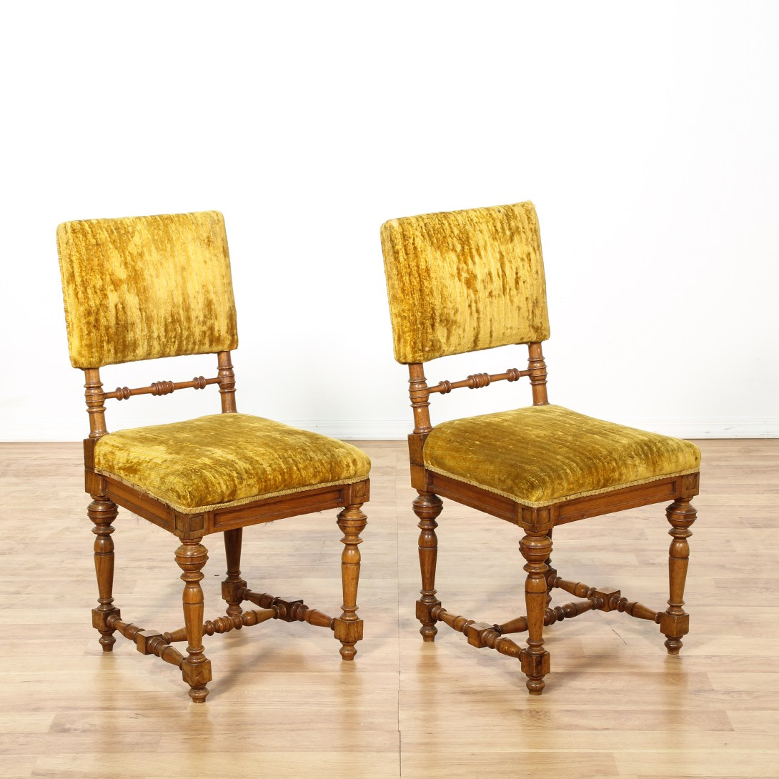 Mustard Accent Chair Pair Of Mustard Yellow Velvet Accent Chairs Loveseat