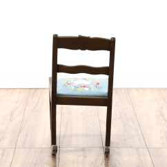 Child Sized Chairs Modern Ikea Rocking Chair W Embroidered Seat Loveseat