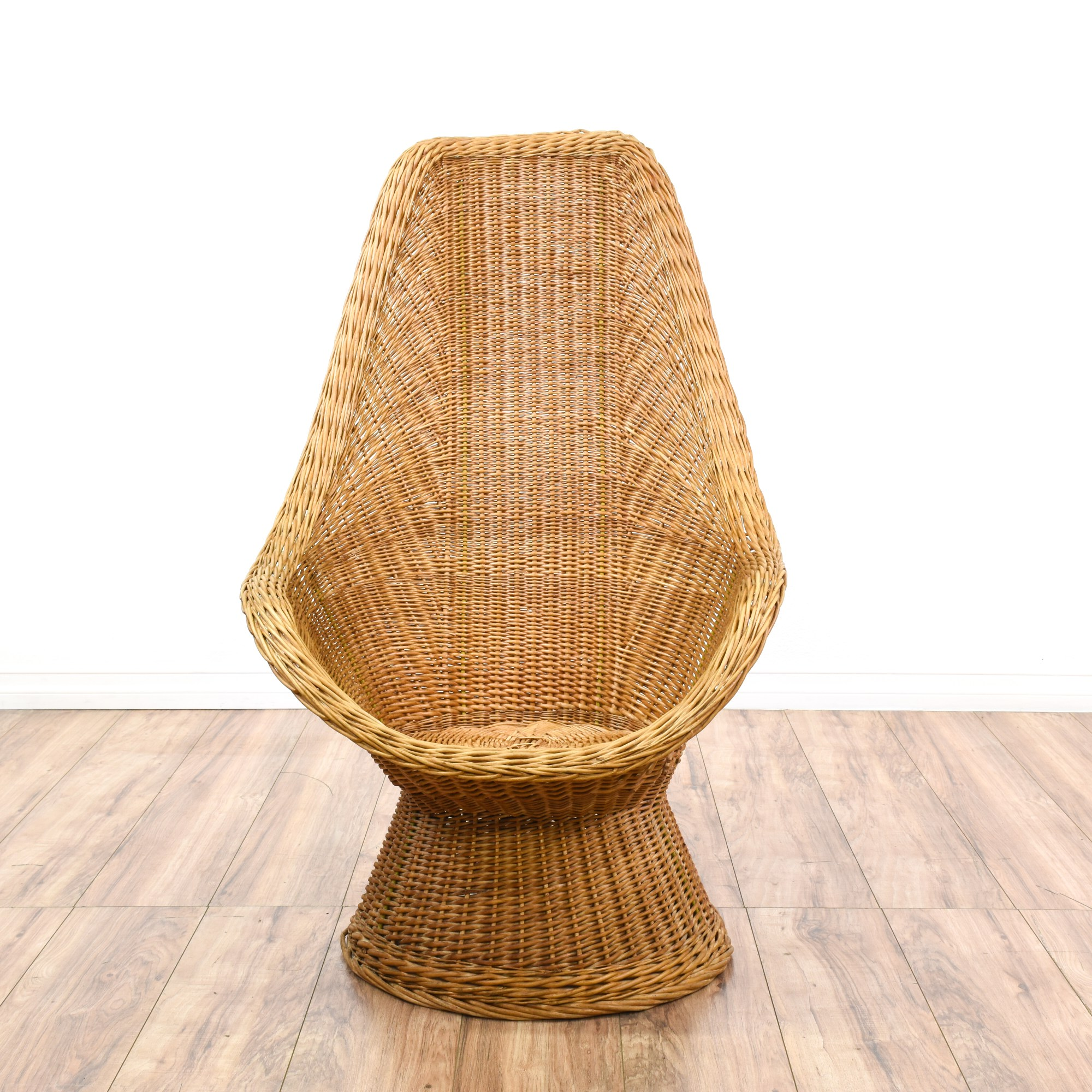 Rattan Egg Chairs Curved Rattan Woven Egg Chair Loveseat Vintage Furniture