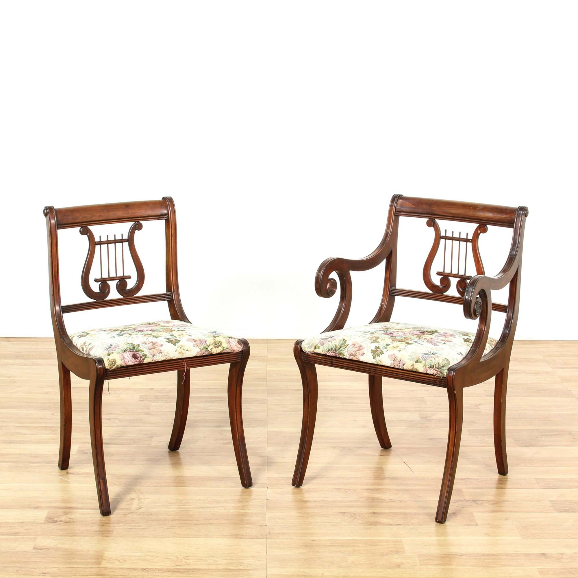 Lyre Back Chairs Set Of 6 Duncan Phyfe Lyre Back Dining Chairs Loveseat