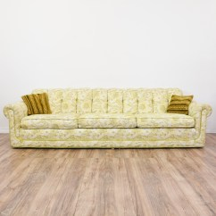 Green Floral Sofa Sectional Images Long Beige And Paisley Print Loveseat