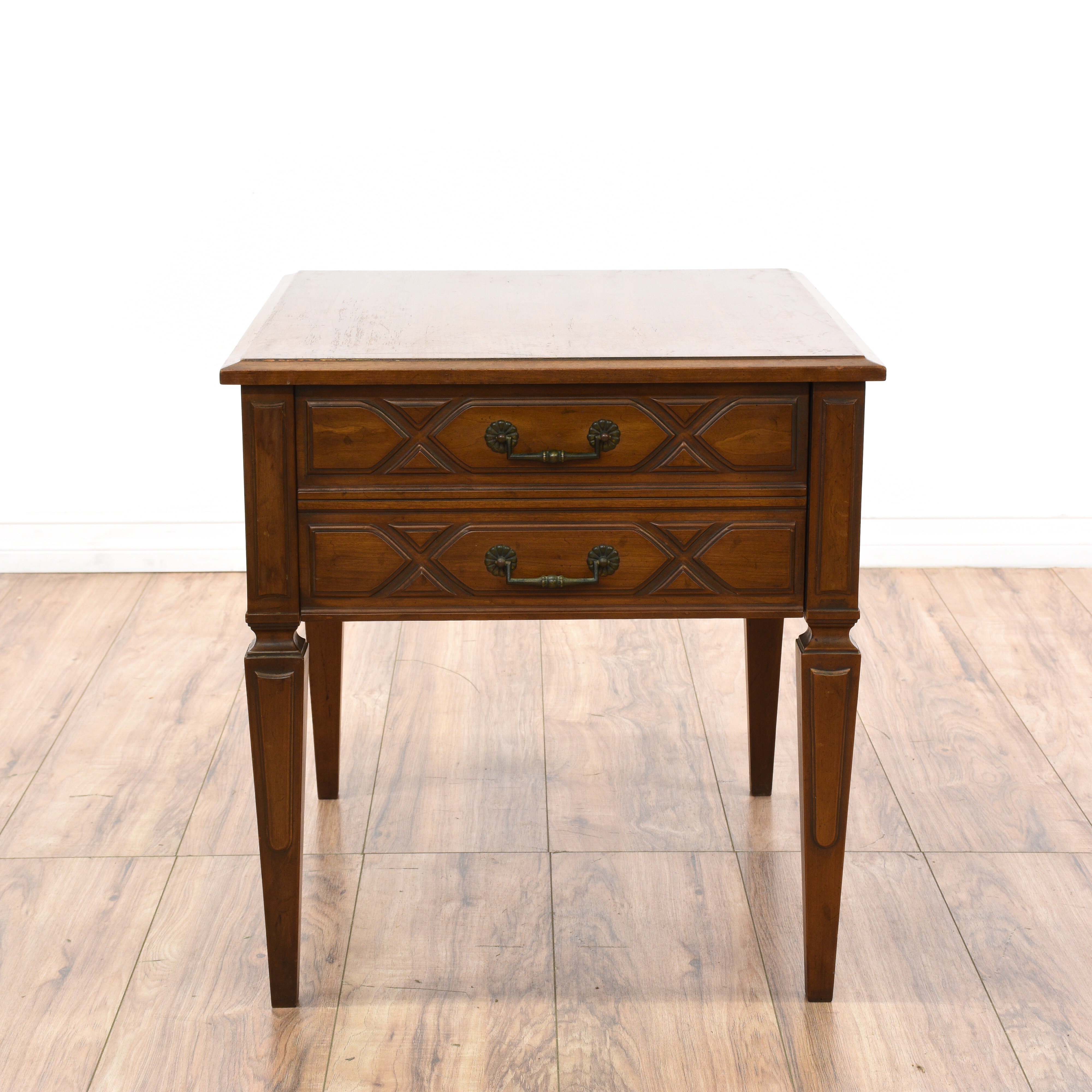 drexel sofa table rattan dining quotdrexel heritage quot cherry 1 drawer end loveseat
