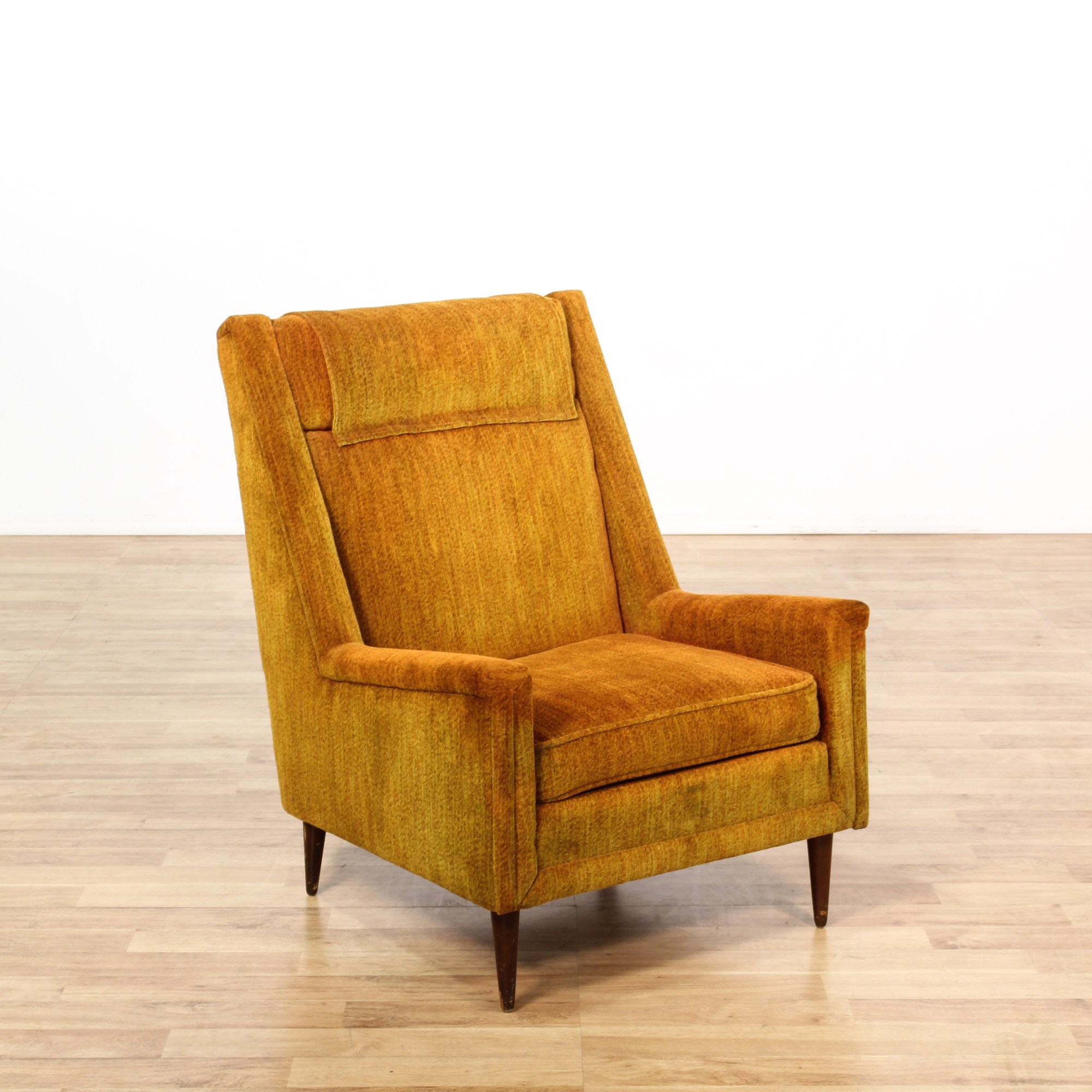Burnt Orange Accent Chair Burnt Orange Upholstered Mid Century Club Chair Loveseat
